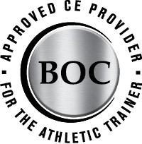BOC Logo with text Approved CE Provider - For the Athletic Trainer
